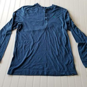 Buckle Hurley Large Mens Blue Long Sleeve Top